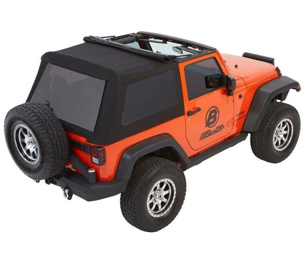 Jeep Wrangler Soft Top >> Bestop Trektop Nx Glide Convertible Soft Top 2 Door Jeep Wrangler