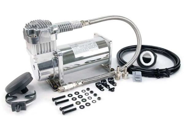 380C VIAIR 200 PSI CHROME AIR COMPRESSOR KIT 38033