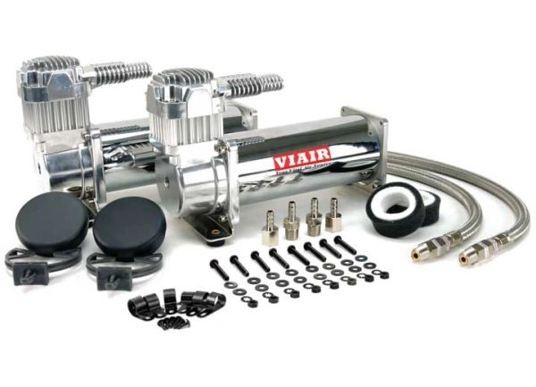 VIAIR DUAL CHROME 444C HI-PERFORMANCE DUAL PACK (200 PSI) Air Compressor