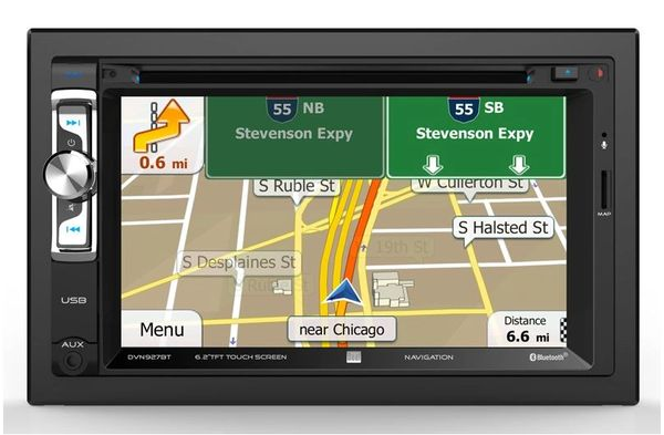 "Dual DVN927BT Bluetooth In-Dash Navigation DVD/CD/AM/FM Jeep Stereo Receiver w/ 6.2"" LCD Screen with Backup camera"