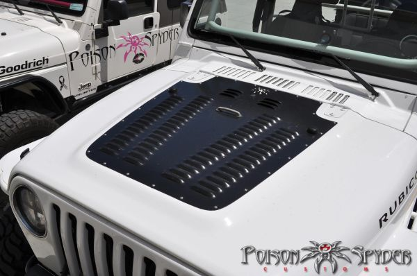 Poison Spyder Hood Louver 14-53-011-PC TJ (97-02) HOOD LOUVER PANEL - POWDERCOATED