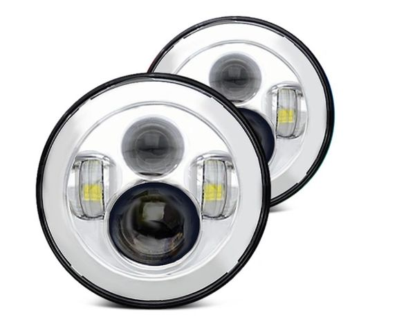 ORACLE Jeep 7IN HIGH POWERED LED HEADLIGHTS - NO HALO - CHROME BEZEL 5770-504