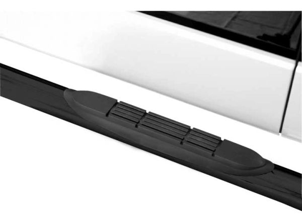ProMaxx 3-inch Round Nerf Bars 15-17 F150 SUPERCREW/17-C F250/350 SUPER DUTY CAB BLK NERF BAR