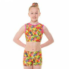 STARBURST CROP TOP / HIPSTER SHORTIES SET