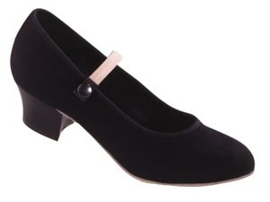 CUBAN HEEL CANVAS CHARACTER SHOE