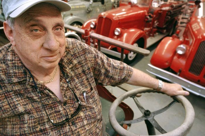 Founder Jimmie Dobson at the Antique Toy and Fire Truck Museum in Bay City, Michigan.
