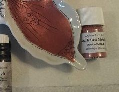 sku#2931 DARK RED Metallic single, paint - 12 grams