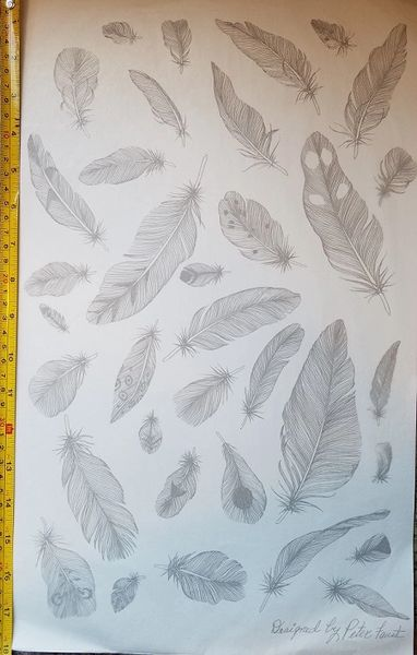 sku#4501 Decal - Feathers