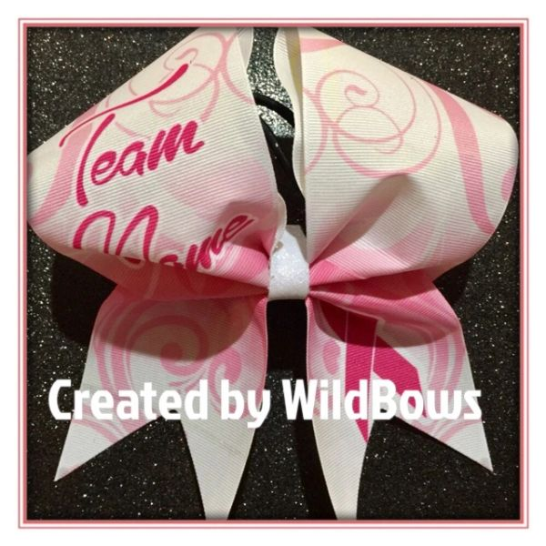 Breast Cancer Awareness Bow (Swirls)