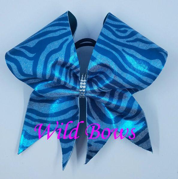 Teal Zebra Stripe