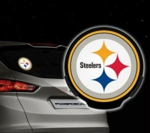 Pittsburgh Steelers LED Window Decal Light Up Logo Powerdecal NFL