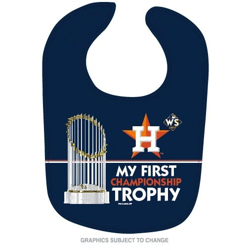 Houston Astros 2017 World Series Champions Baby Bib MLB Licensed