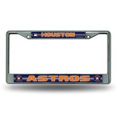 Houston Astros Chrome Bling License Plate Frame MLB Licensed