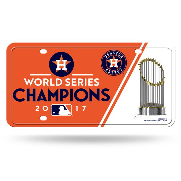 Houston Astros 2017 World Series Champions Metal License Plate Tag MLB