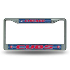 Chicago Cubs Chrome Bling License Plate Frame MLB Licensed