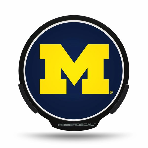 Michigan Wolverines LED Window Decal Light Up Logo Powerdecal NCAA