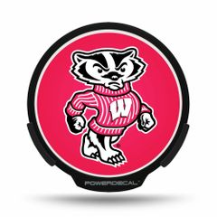 Wisconsin Badgers LED Window Decal Light Up Logo Powerdecal NCAA