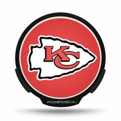Kansas City Chiefs LED Window Decal Light Up Logo Powerdecal NFL