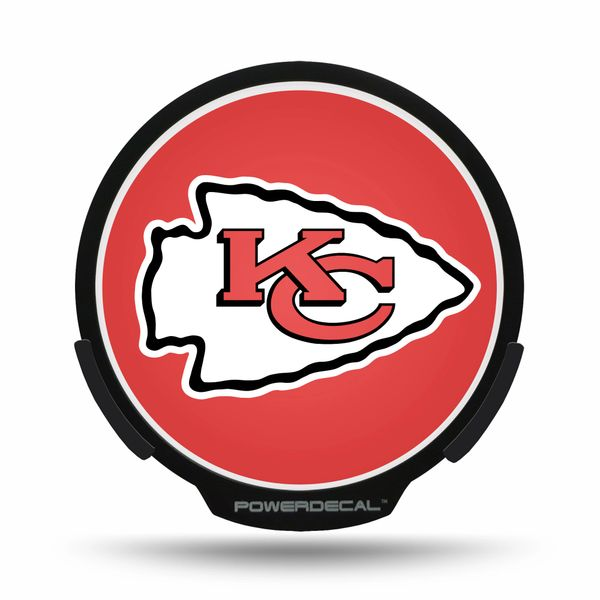 Kansas City Chiefs LED Window Decal Light Up Logo Powerdecal NFL