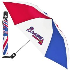 "Atlanta Braves Automatic Push Button Umbrella 42"" MLB Licensed"