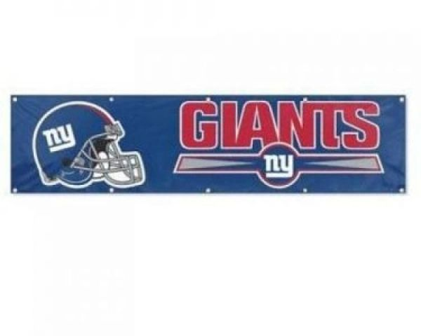 New York Giants 2' x 8' Wall Banner Flag NFL Licensed