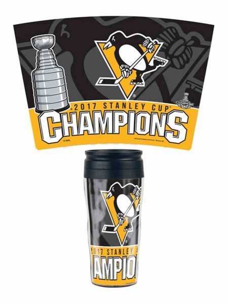Pittsburgh Penguins 2017 NHL Stanley Cup Champions Travel Tumbler