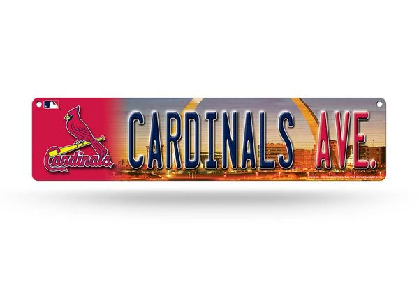 "St Louis Cardinals ""Avenue"" 4""x16"" Street Sign MLB Licensed"
