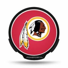 Washington Redskins LED Window Decal Light Up Logo Powerdecal NFL