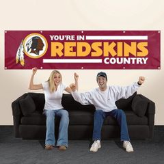 Washington Redskins 2' x 8' Wall Banner Flag NFL Licensed