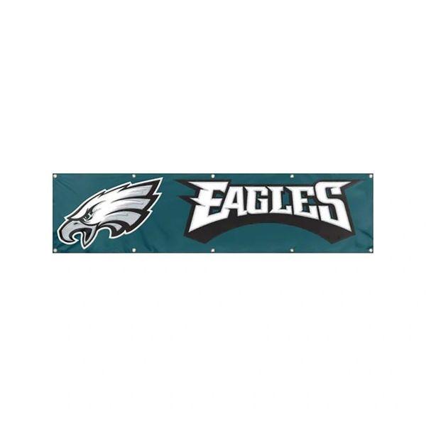 Philadelphia Eagles 2' x 8' Wall Banner Flag NFL Licensed