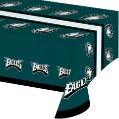 "Philadelphia Eagles Plastic Table Cover 54"" x 102"""