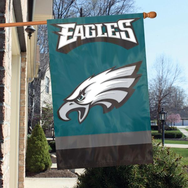 """Philadelphia Eagles 2 Sided Embroidered Vertical House - Wall Flag 28"""" x 44"""" MLB"""