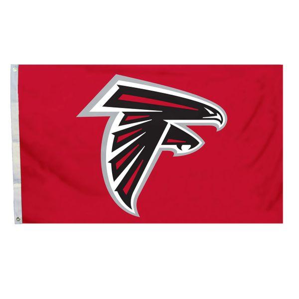 Atlanta Falcons Team Helmet Banner Flag 3'x5' NFL Licensed