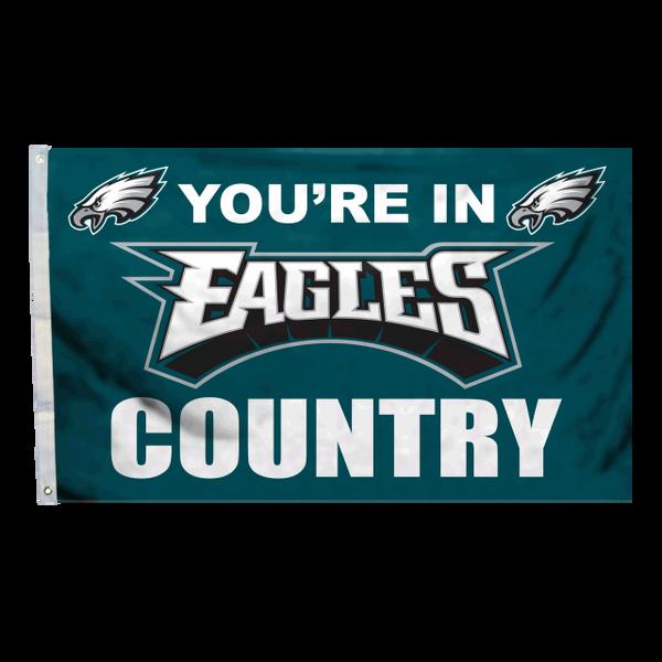 """Philadelphia Eagles """"Country"""" Banner Flag 3'x5' NFL Licensed"""
