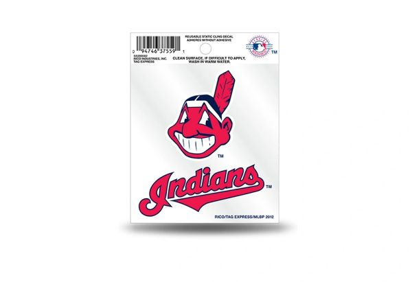 Cleveland Indians Cheif Wahoo Window Cling MLB Licensed