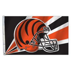 Cincinnati Bengals Team Helmet Banner Flag 3'x5' NFL Licensed