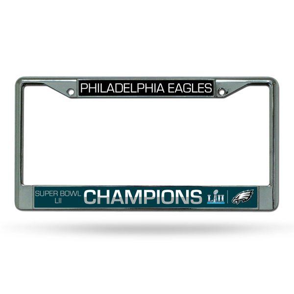 Philadelphia Eagles Super Bowl 52 Champions Chrome License Plate Frame NFL