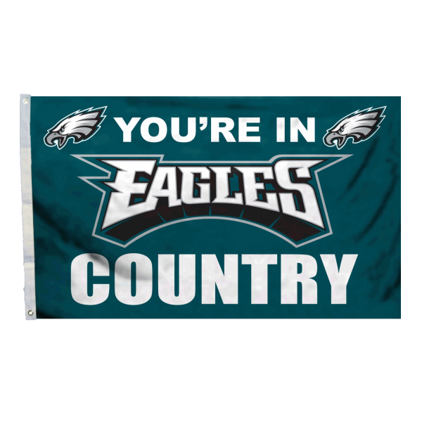 Philadelphia Eagles You're In Country Banner Flag 3' x 5' NFL Licensed