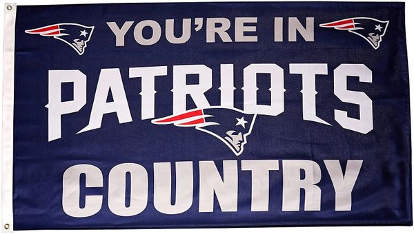 New England Patriots You're In Country Banner Flag 3' x 5' NFL Licensed