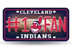 Cleveland Indians #1 Fan Metal License Plate Tag MLB Licensed