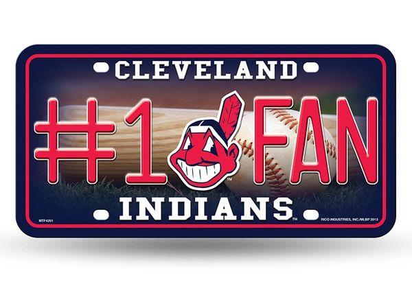 Cleveland Indians #1 Fan Metal License Plate Tag MLB Licensed