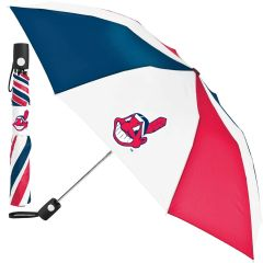 "Cleveland Indians Automatic Push Button Umbrella 42"" MLB Licensed"