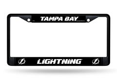 Tampa Bay Lightning Black Chrome Metal License Plate Frame NHL