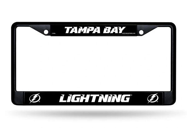 Tampa Bay Lightning Black Chrome Metal License Plate Frame NHL