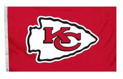 Kansas City Chiefs Team Logo Banner Flag 3' x 5' NFL Licensed