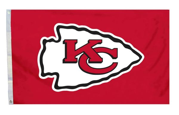 Kansas City Chiefs Team Logo Banner Flag 3' x 5' NFL Licensed