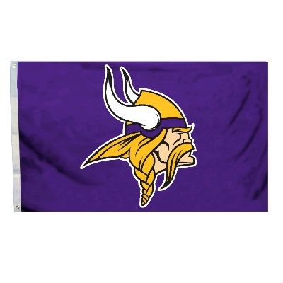 Minnesota Vikings Team Logo Banner Flag 3' x 5' NFL Licensed