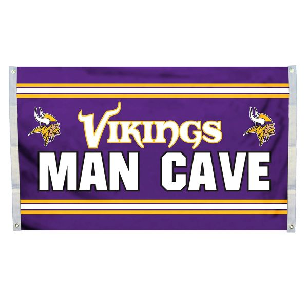 "Minnesota Vikings ""Man Cave"" 3' x 5' Banner Flag NFL Licensed"