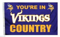Minnesota Vikings You're In Country Banner Flag 3' x 5' NFL Licensed