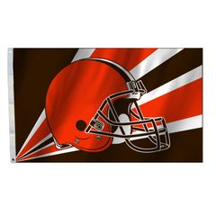 Cleveland Browns Team Helmet Banner Flag 3'x5' NFL Licensed